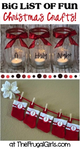 Easy Christmas Crafts from TheFrugalGirls.com