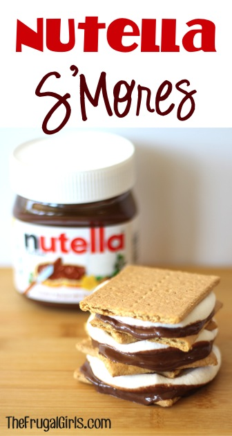 Nutella S'Mores from TheFrugalGirls.com
