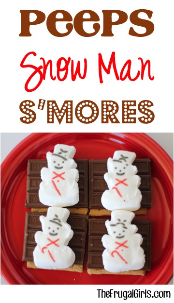 Peeps Snowman S'mores from TheFrugalGirls.com