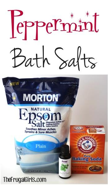 Peppermint Bath Salts from TheFrugalGirls.com