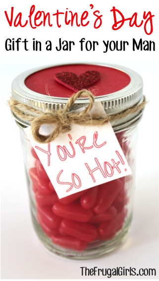 Red Hots Valentine's Candy Gift in a Jar at TheFrugalGirls.com