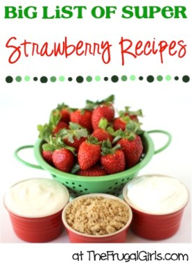 BIG List of Super Strawberry Recipes from TheFrugalGirls.com