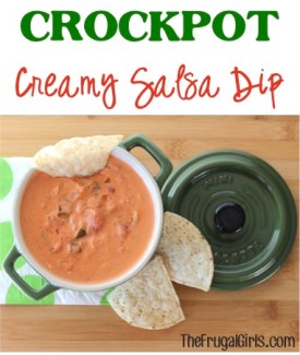 Crockpot Creamy Salsa Dip Recipe - from TheFrugalGirls.com