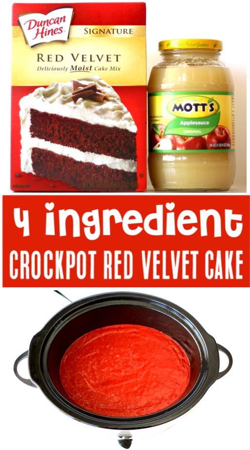 Red Velvet Cake Recipe - Easy Moist Crockpot Dessert