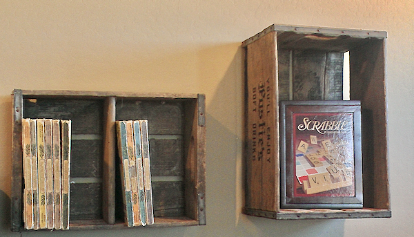 Vintage Wooden Crate Storage Solution