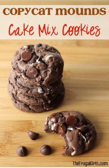 Copycat Mounds Cake Mix Cookies Recipe at TheFrugalGirls.com