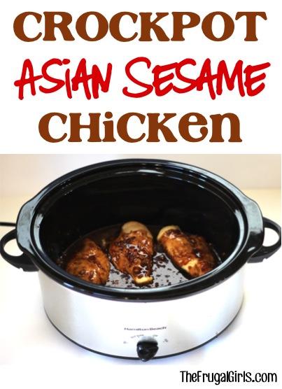 Crockpot Asian Sesame Chicken Recipe at TheFrugalGirls.com
