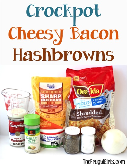 Crockpot Cheesy Bacon Hashbrowns Recipe at TheFrugalGirls.com