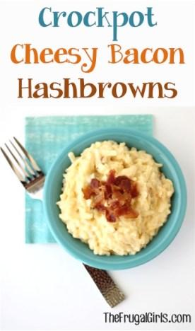 Crockpot Cheesy Bacon Hashbrowns Recipe from TheFrugalGirls.com
