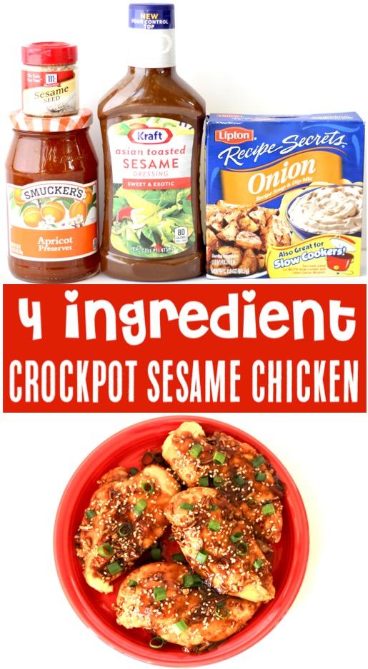 Crockpot Chicken Recipes - Asian Sesame Slow Cooker Dinner