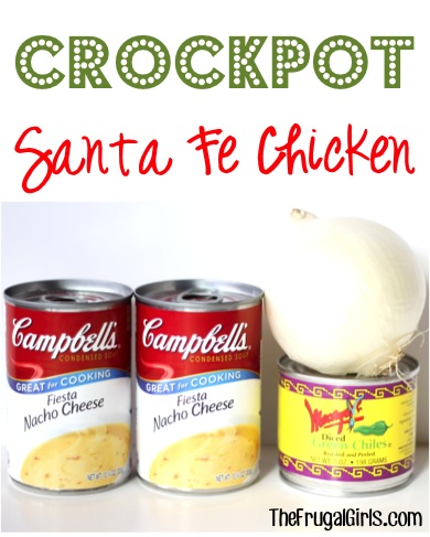 Crockpot Santa Fe Chicken Recipe from TheFrugalGirls.com