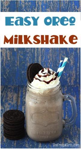 Easy Oreo Milkshake Recipe