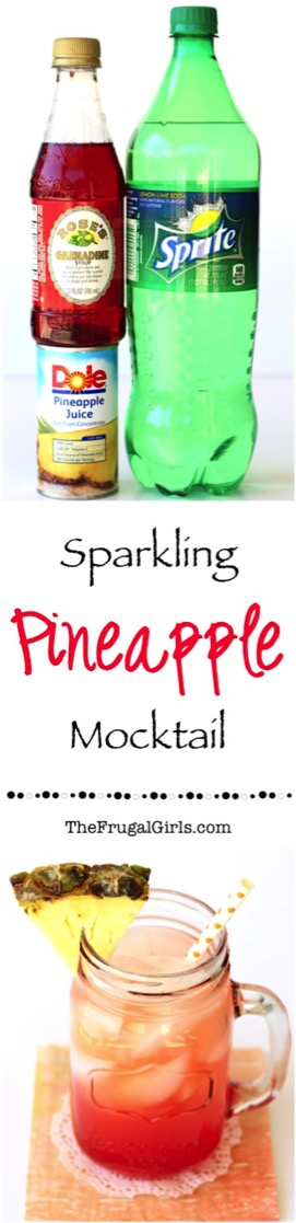 Sparkling Pineapple Mocktail Recipe