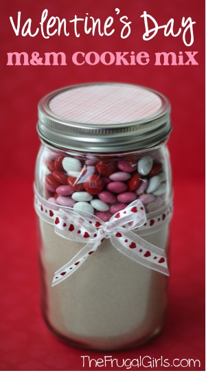 Valentines Day MM Cookie Mix in a Jar