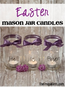 Easter Mason Jar Candles from TheFrugalGirls.com