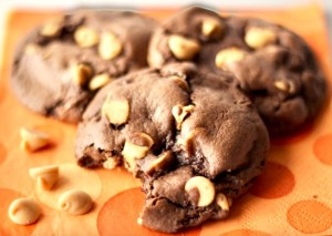 Reese's Triple Chocolate Fudge Cake Mix Cookies Recipe
