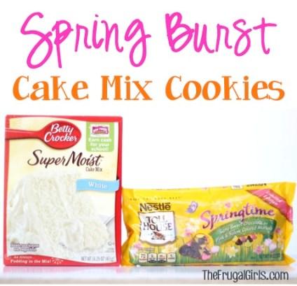Spring Burst Cake Mix Cookies