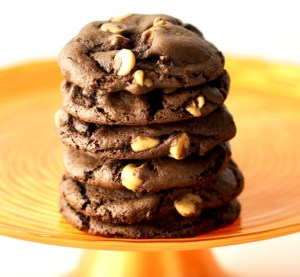 Triple Chocolate Fudge Cake Mix Cookies