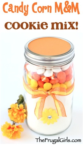 Candy Corn M&M Cookie Mix in a Jar