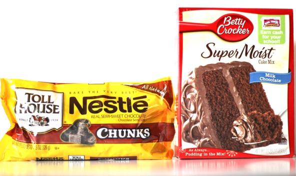 Chocolate Chunk Cake Mix Cookies Recipe