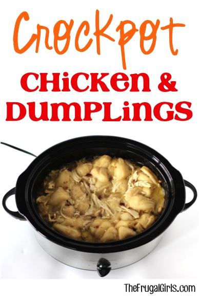 Crockpot Chicken and Dumpling Recipe from TheFrugalGirls.com
