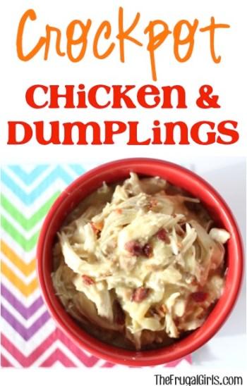 Crockpot Chicken and Dumplings Recipe from TheFrugalGirls.com