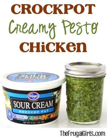 Crockpot Pesto Chicken Recipe at TheFrugalGirls.com