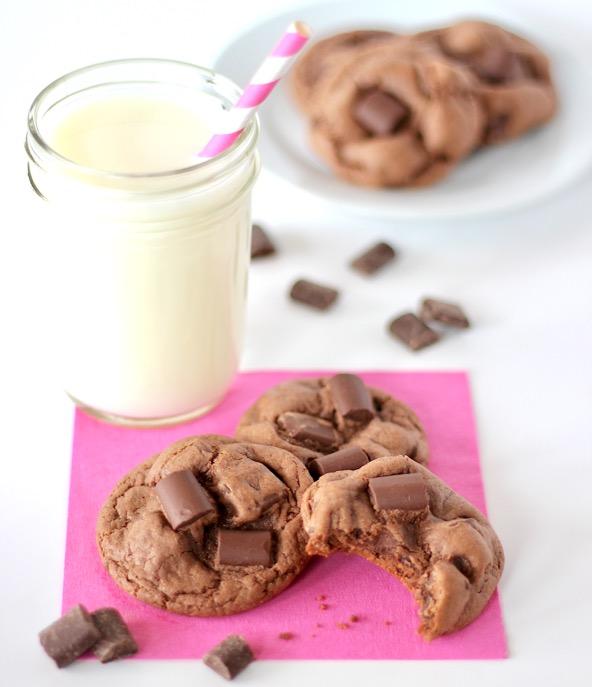Loaded Chocolate Chunk Cake Mix Cookies Recipe