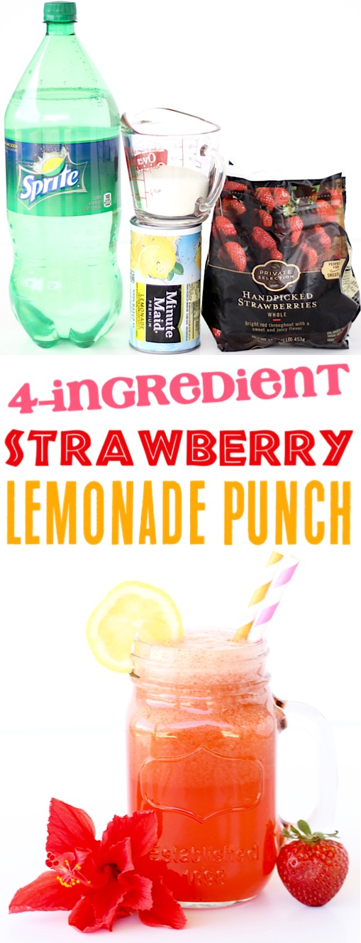 Strawberry Lemonade Punch Recipe Easy Summer Punch Recipes