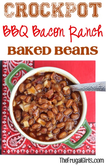 Crockpot BBQ Beans Recipe from TheFrugalGirls.com