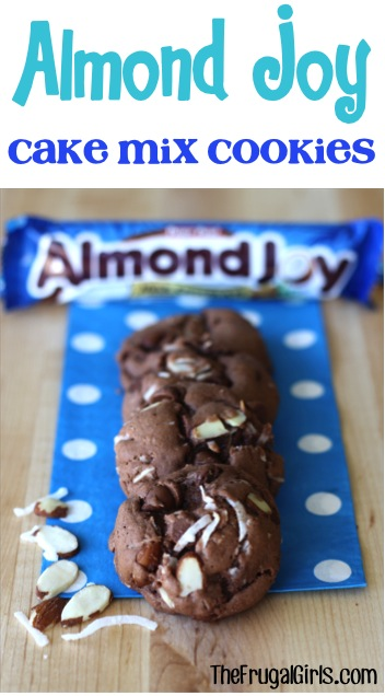 Almond Joy Cake Mix Cookie Recipe from TheFrugalGirls.com