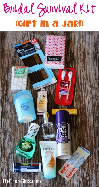 Bridal Survival Kit Ideas at TheFrugalGirls.com