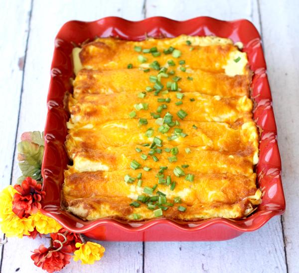 Easy Chicken Enchiladas Casserole Sour Cream
