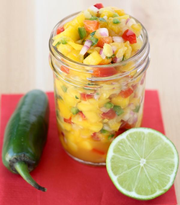 Mango Pineapple Salsa Recipe Easy from TheFrugalGirls.com