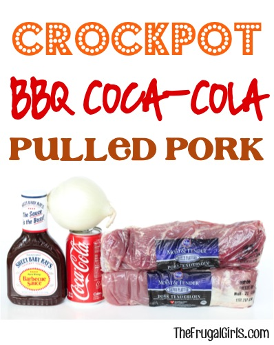 Slow Cooker Barbecue Coke Pulled Pork Recipe from TheFrugalGirls.com