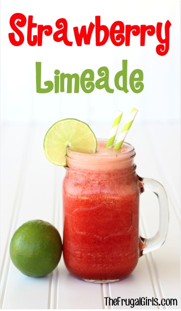 Strawberry Limeade Recipe at TheFrugalGirls.com