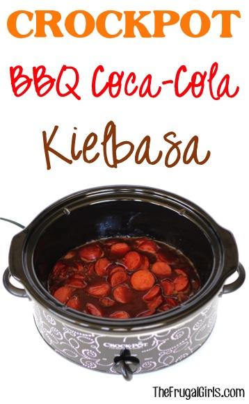 Crockpot BBQ Coca-Cola Kielbasa Recipe at TheFrugalGirls.com
