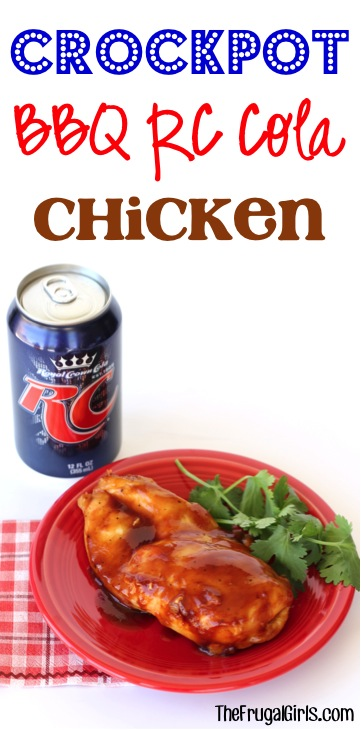 Crockpot BBQ RC Cola Chicken Recipe from TheFrugalGirls.com