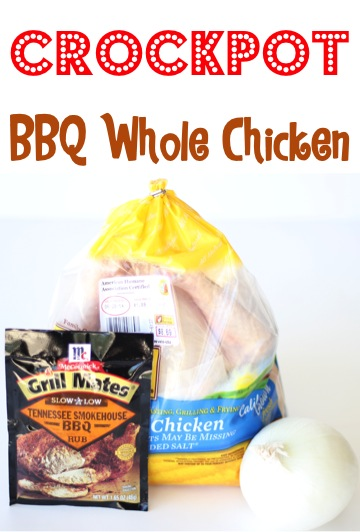 Crockpot Barbecue Whole Chicken Recipe from TheFrugalGirls.com