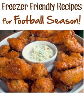 Freezer Friendly Recipes for Football Season