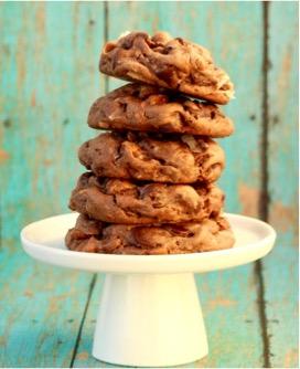 German Chocolate Cake Mix Cookies Recipe at TheFrugalGirls.com