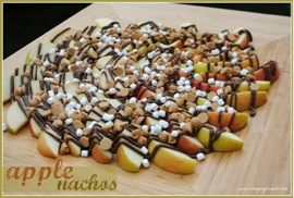 Peanut Butter Nutella Apple Nachos Recipe