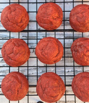 Red Velvet Cookies Recipe from TheFrugalGirls.com