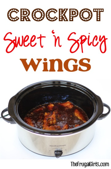 Crockpot Sweet and Spicy Wings Recipe - from TheFrugalGirls.com