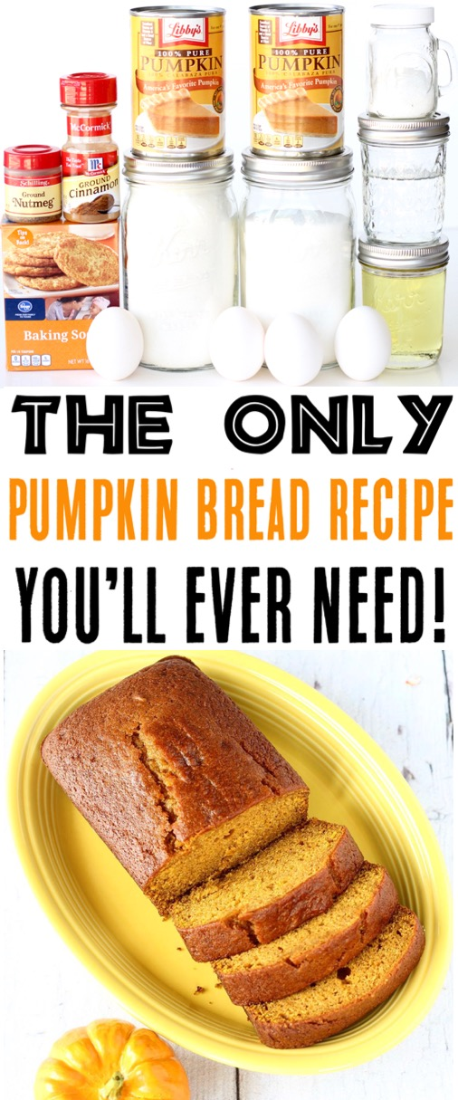 Pumpkin Bread Recipe | Easy Moist Better Than Starbucks Fall Pumpkin Loaf