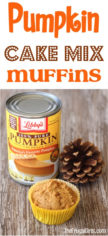 Pumpkin Cake Mix Morning Muffin Recipe from TheFrugalGirls.com