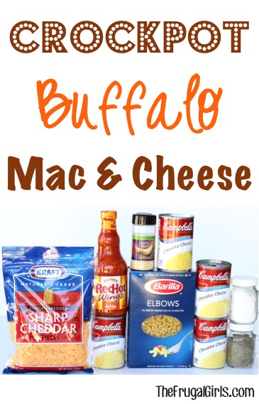 Crockpot Buffalo Macaroni and Cheese Recipe - from TheFrugalGirls.com