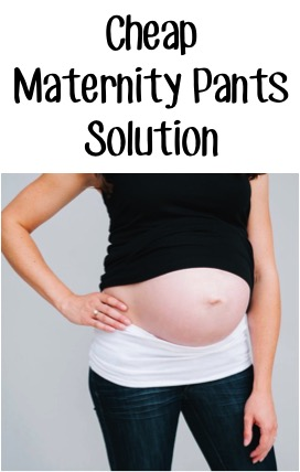 Cheap Maternity Pants Solution at TheFrugalGirls.com