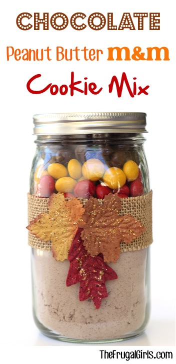 Chocolate Peanut Butter MM Cookie Mix in a Jar