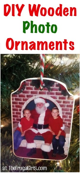 Easy Christmas Photo Ornaments